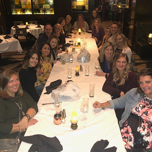 Holiday Staff party at Restaurant